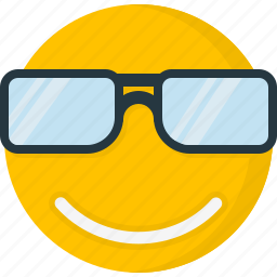 cool, emoticons, face, happy, smile, smiley, sunglass icon