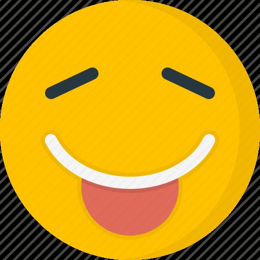 emoticons, face, smile, smiley, tongue icon