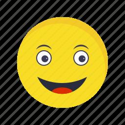 emoticon, face, happy icon