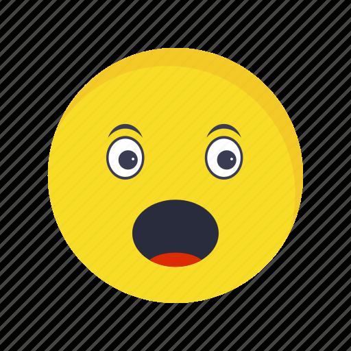 emoticon, face, surprised icon