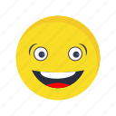 emoji, emoticon, laughing icon