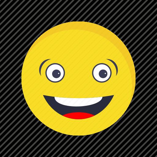 emoji, emoticon, face, laughing icon