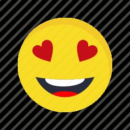 emoticon, face, love icon