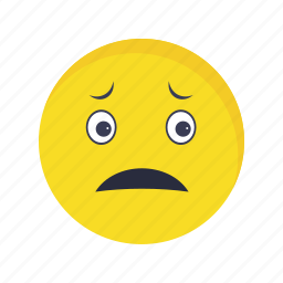 emoticon, face, nervous icon