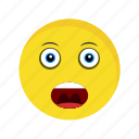 emoji, emoticon, face, shouting icon