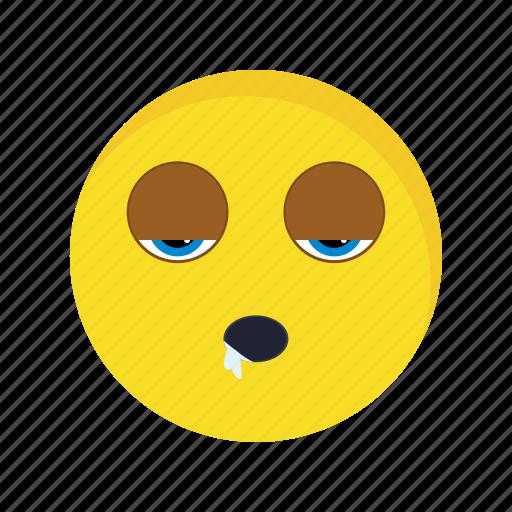 emoji, emoticon, face, sleep icon