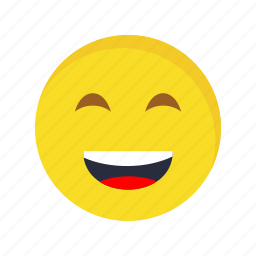 emoticon, laughing, smile icon