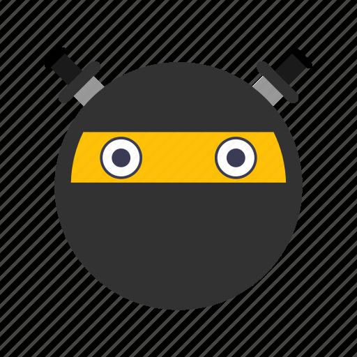 emoticon, face, ninja icon