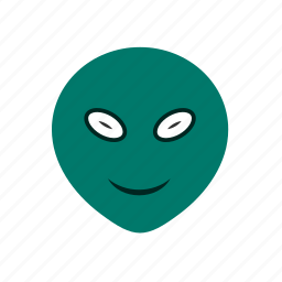 alien, emoticon, face icon