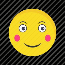blush, emoticon, face icon