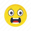 emoticon, face, scared, smiley icon