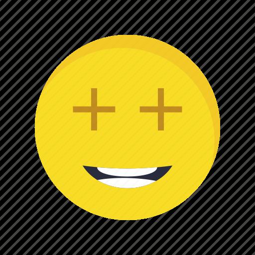 emoji, emoticon, face, positive icon
