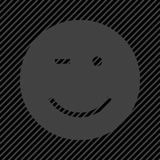 eye, eyelash, eyes, face, man, wink, winking icon