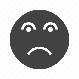 abuse, depression, disappointed, disappointment, frustration, sad, stress icon