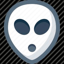 alien, emoticon, face, smile, smiley, ufo icon