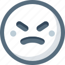 angry, emoticon, face, smile, smiley icon