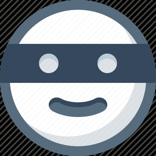 bandit, emoticon, face, mask, smile, smiley icon