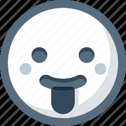 cheeky, emoticon, face, smile, smiley, tongue icon