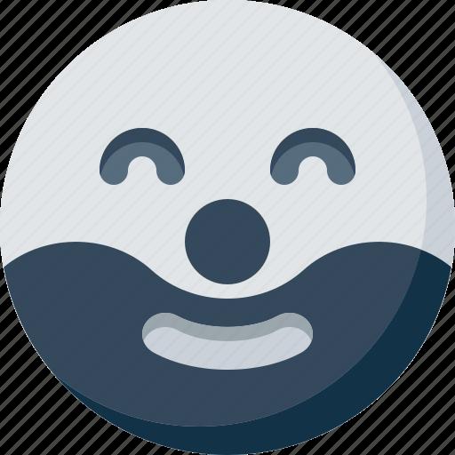 clown, emoticon, face, happy, smile, smiley icon