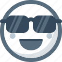 cool, emoticon, face, smile, smiley, sunglasses icon