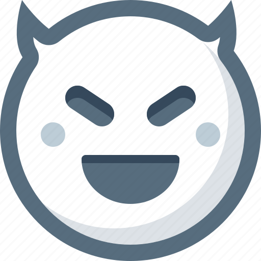 devil, emoticon, evil, face, smile, smiley icon