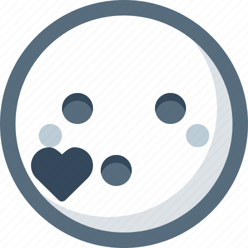 emoticon, face, kiss, love, romantic, smile, smiley icon