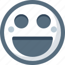 emoticon, face, happy, laughing, smile, smiley icon