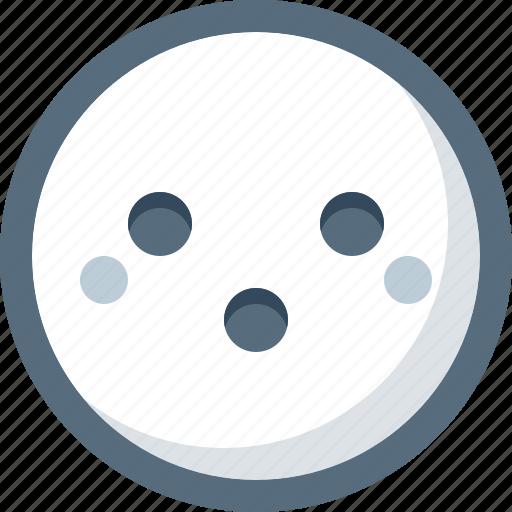 emoticon, face, modest, smile, smiley icon
