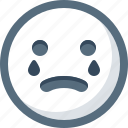 emoticon, cry, smiley, face, smile, sad icon