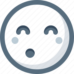 emoticon, face, shy, smile, smiley icon