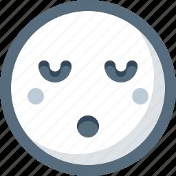dream, emoticon, face, sleepy, smile, smiley icon