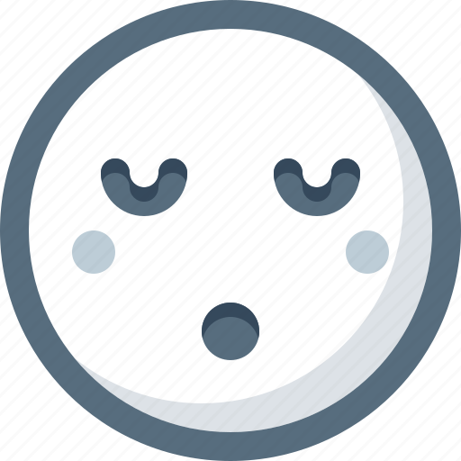 dream, emoticon, face, sleepy, smile, smiley icon