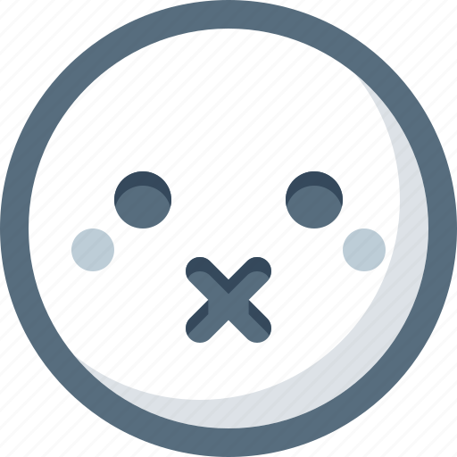 Emoticon, face, smile, smiley, speechless icon - Download on Iconfinder