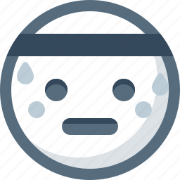 emoticon, face, smile, smiley, sport, sweating icon