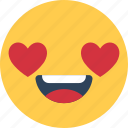 happy face, heart feelings, loving, smiley, smiley face icon