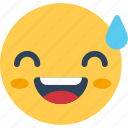 cheerful, happy, laughing emoticon, pleased, smiley icon
