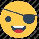 happy face, one eye smiley, smiley, smiley face icon