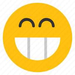 big grin, emoticons, grin, happy, smiley icon