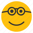 emoticons, geek, glasses, nerd, smiley icon
