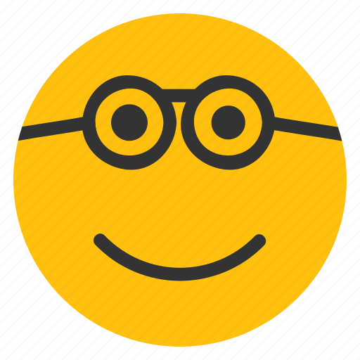 emoticons, geek, glasses, nerd, smiley icon