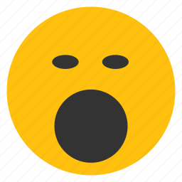 emoticons, sleepy, smiley, tired, yawn icon