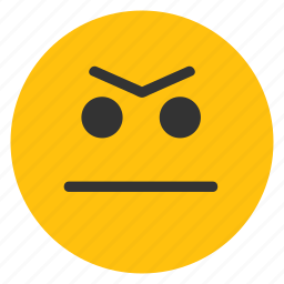 annoyed, determined, emoticons, smiley icon