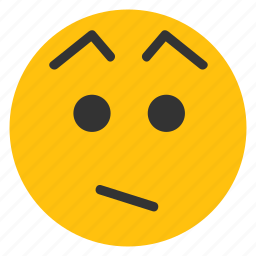 emoticons, eyebrows, puzzled, quizzical, smiley, wtf icon