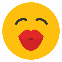 big kiss, emoticons, flirty, kiss, kissing, smiley icon