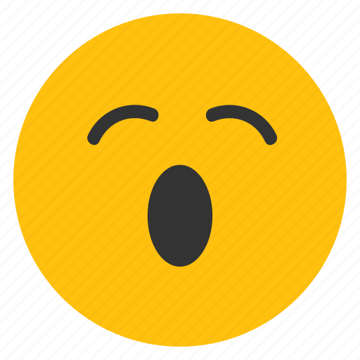 emoticons, open mouth, sleepy, smiley, tired, yawn icon