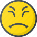emoji, emote, emoticon, emoticons, grumpy icon