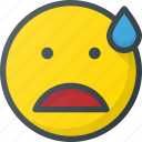 emoji, emote, emoticon, emoticons, nervous icon