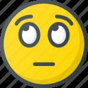 emoji, emote, emoticon, emoticons, eyes, rolling icon