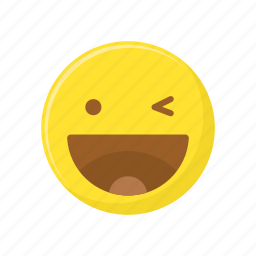 character, emoticon, expression, face, happy, laugh icon