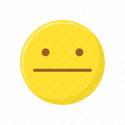 character, emoticon, expression, face, straight face icon